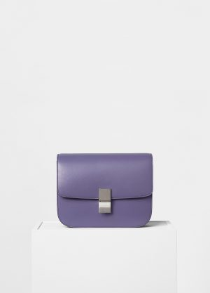 Celine Amethyst Box Calfskin Medium Classic Box Replica Bag