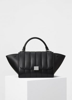 Celine Black Lambskin Quilted Small Trapeze Replica Bag