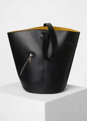 Celine Black/Sunflower Bucket Biker Shoulder Replica Bag