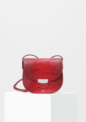 Celine Carmin Lizard Small Trotteur Shoulder Replica Bag