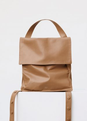 Celine Light Tan Croissant Backpack Replica Bag