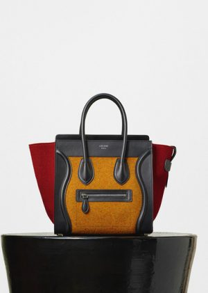 Celine Orange Multicolor Felt Micro Luggage Replica Bag