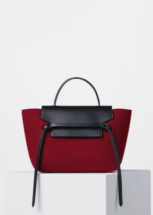 Celine Red Felt Mini Belt Replica Bag