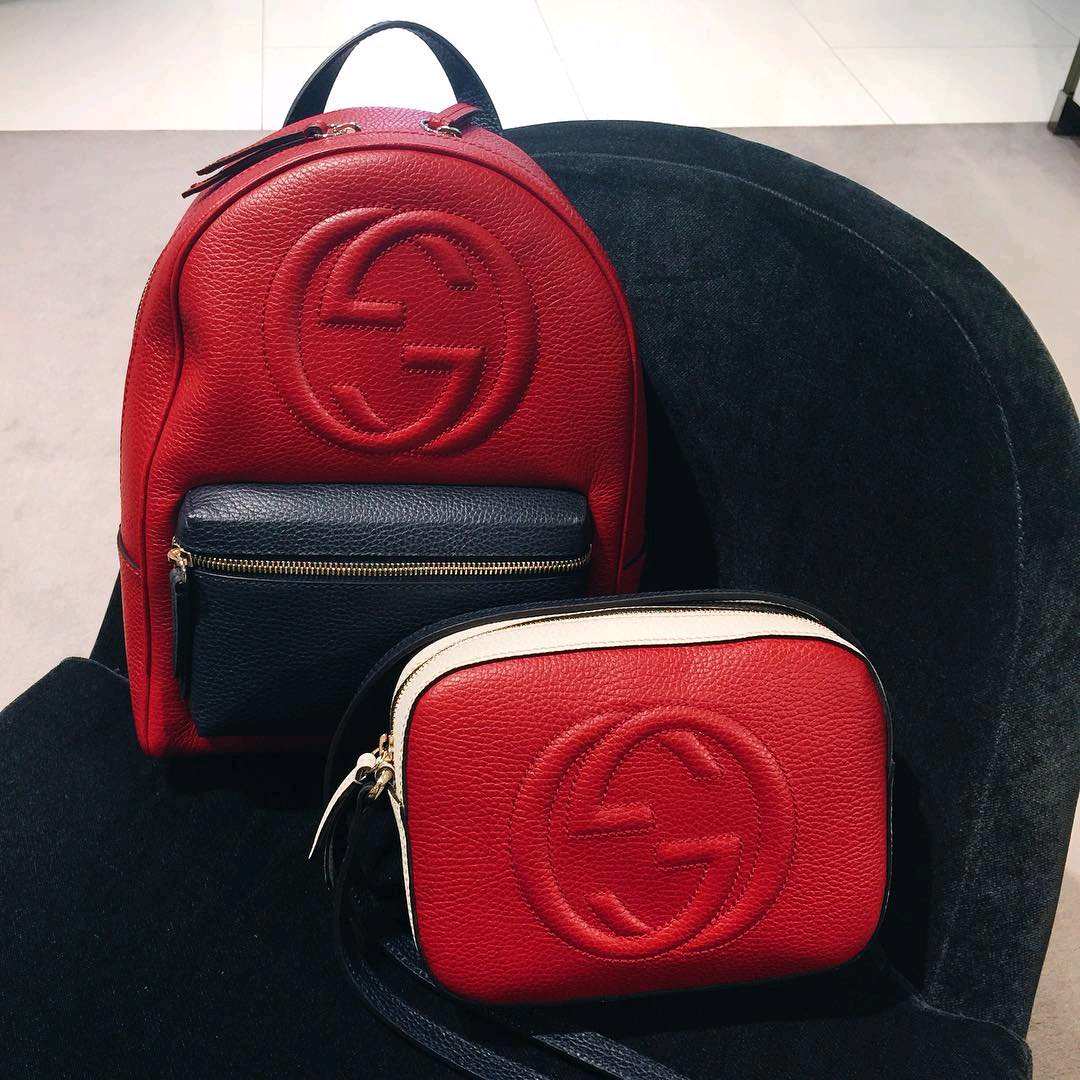 A Closer Look Gucci Soho Leather Backpack